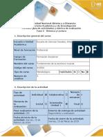Guía de actividades y rúbrica de evaluación - Fase 2 - Rítmica y Lectura