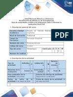 Guia de actividades y rubrica de evaluacion-Fase 5-Efectuar la evaluacion final POA
