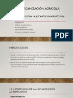 Introducción a la mecanización agropecuaria