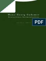 Gadamer, Hans-Georg - Acotaciones hermenéuticas.pdf