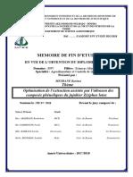 Optimisation de l'extraction assistée par l'ultrason des composés phénoliques du jujubier Ziziphus lotus.pdf