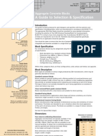 Datasheet on Concrete Blocks