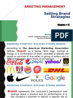 Revised - Marketing Management (Chapter 12) - Setting Brand Strategies