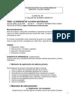 7°_QUIMICA_CLASE 3_MASA, PESO Y DENSIDAD DE ALGUNOS MATERIALES