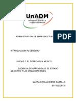 derecho u2 a EA el estado mexicano