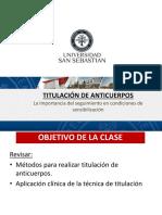 Clase 13.TITULACION DE ANTICUERPOS.FINAL. 2018-1