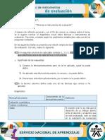 Evidencia - Diagnóstico Técnicas e instrumentos de evaluación