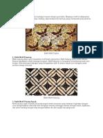 batik tradisional dan modern