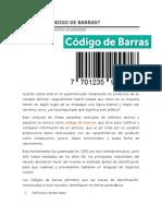 QUÉ ES EL CÓDIGO DE BARRAS