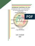 Universidad Nacional de Loja - Psicorrehabilitación y Educación Especial