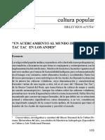 Un acercamiento al mundo del Human Tac Tac en los Andes_Sirley Ríos Acuña