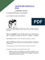INVESTIGACION DE CIENCIA Y TECNOLOGIA