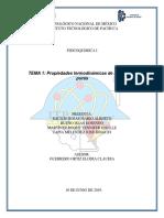 Propiedades termodinámicas de sustancias puras
