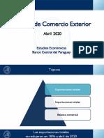 Informe Comercio Exterior a Abril