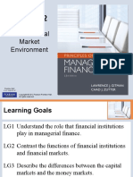 The Financial Market Environment