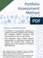 Portfolio Assessment Method.ppt