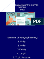 RS Unit VI Paragraph Writing Final