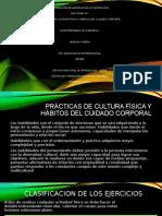 PRÁCTICAS DE CULTURA FÍSICA Y HÁBITOS DEL CUIDADO CORPORAL
