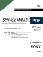 сервис мануал на английском Sony KDL-22BX320 шасси AZ2EK 9-888-407-03.pdf