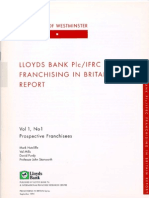 Lloyds Bank IFRC - Prospective Franchisees Sep 1995 - Franchising in Britain Series