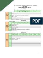 Class Time Table Jan-Jun11