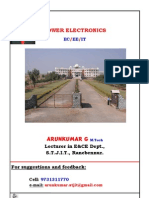 7th Semester Power Electronics Question Bank(Arunkumar G, Lecturer in EC Dept, STJIT, Ranebennur