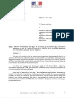 La circulaire sur les mesures d'adaptation des règles de subventions publiques