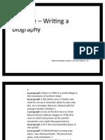 UNIT 11E - Writing - A biography