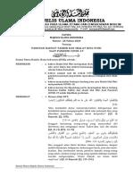 Fatwa MUI No 28 Tahun 2020 tentang Panduan Kaifiat Takbir dan Shalat Idul Fitri saat Covid-19.pdf
