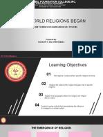 LESSON 2-how world  religion began