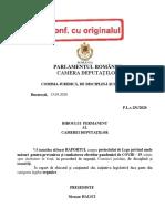 Raportul Comisiei Juridice. Proiectul de lege privind starea de alertă din 15 mai