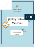Writing Destance Materils
