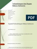 Sejarah Perkembangan dan Ragam Bahasa Indonesia (fany)