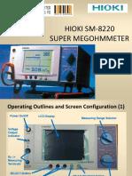 Training HIOKI SM-8220 MegohmMeter