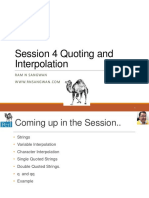 Session 4 Perl Quoting and Interpolation