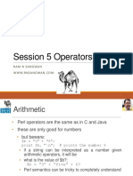 Session 5 Operators in Perl