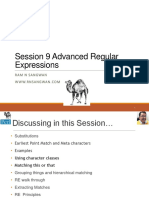 Session 9 Advanced Regular Expressions in Perl