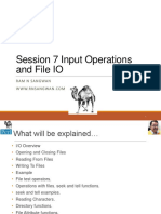 Session 7 Input Operations and File IO in Perl