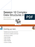 Session 12 Complex Data Structures in Perl