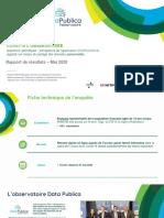 Observatoire DATA PUBLICA - Sondage Mai 2020