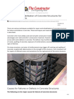 Repairs and Rehabilitation of Concrete Structures for Failure and Defects