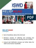 DSWD presentation on ReliefAgad app