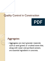 Quality control in construction materials