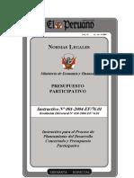 instructivo presupuesto participativo 2004