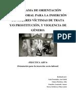 inserción socio laboral de mujeres victimas de trata y/o violencia de genero