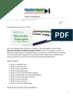pinoybix.org-Malvino MCQ in Power Amplifiers