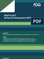 Curso PBQP-H 2017 e NBR 15575