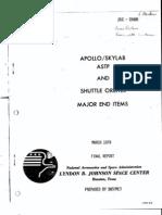 Apollo Skylab ASTP and Shuttle Orbiter Major End Items