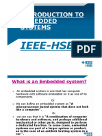 Introduction to Embedded System Intro.