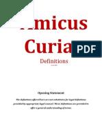 Amicus Curiae Defintions R1